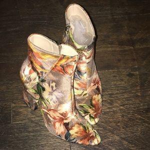 Nine West Floral Booties